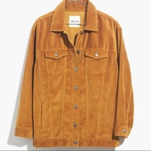 Madewell Oversized Mustard Jacket Corduroy Edition